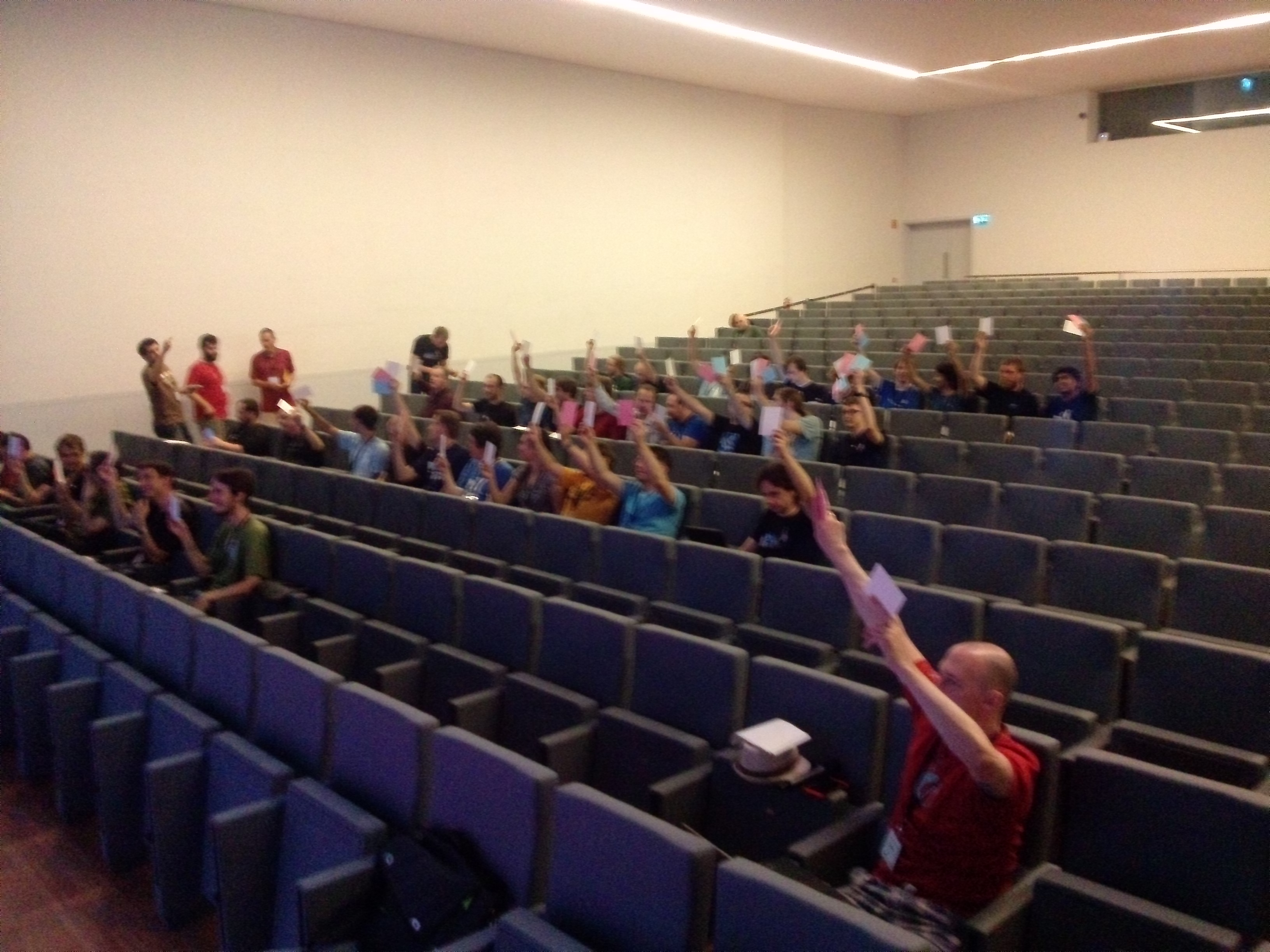 Voting at the KDE e.V. general assembly