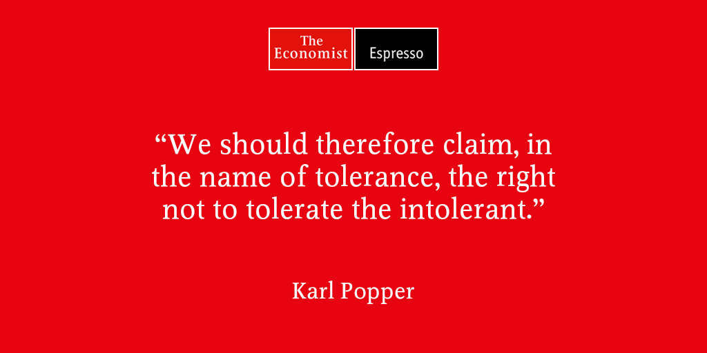 Claim the right not to tolerate the intolerant